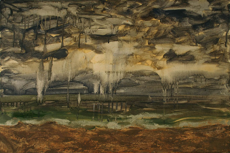 Thunderstorm, Seaside Park, oil on canvas