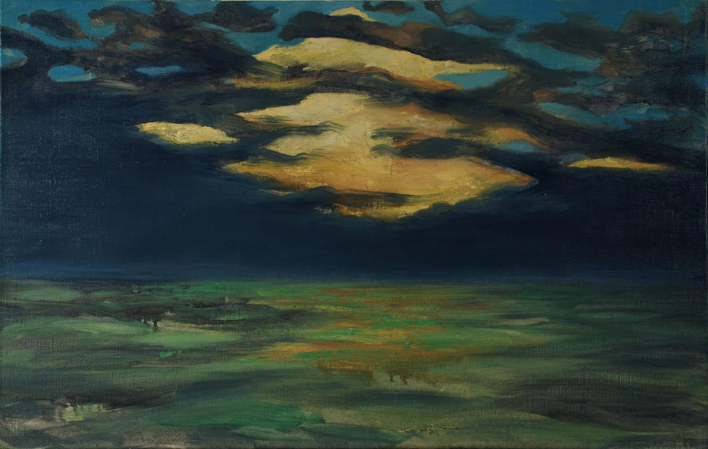 Storm at Seaside, Sunset, oil on linen