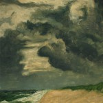 Storm at Seaside, Facing South , oil on panel