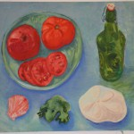 Tomatoes, oil on canvas
