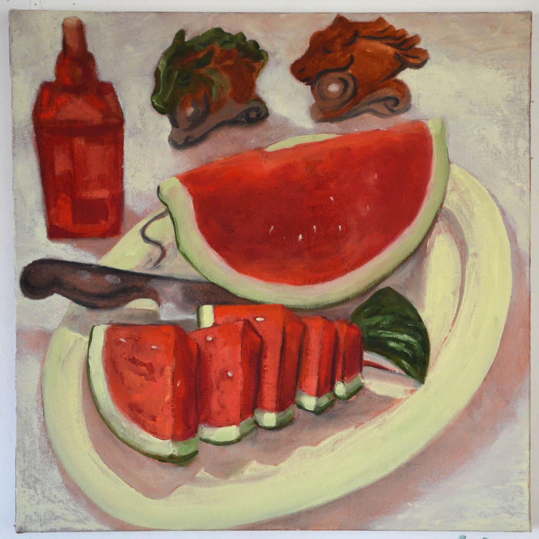 Watermelon, oil on canvas