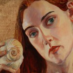 Self Portrait with Shell, oil on canvas